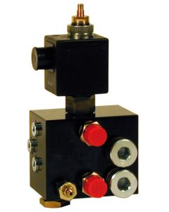 HYDRAULIC BLOCK WITH PROPORTIONAL SOLENOID