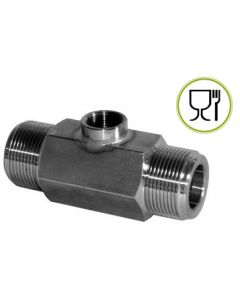 THREADED STAINLESS STEEL STANDARD FLOWMETER - 60 BAR SUITABLE FOR CONTACT WITH FOODSTUFFS