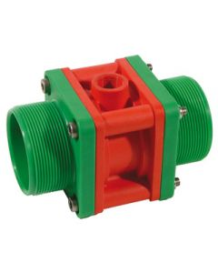 TURBO FLOW - PLASTIC (IXEF) BODY WITH THREADED FLANGES